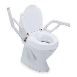 Toiletverhoger met armsteunen 2 cm.